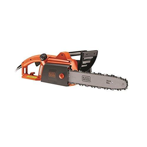 BLACK+DECKER CS1835-QS – Motosierra eléctrica 1800W, espada 35 cm, velocidad 12.5 m/s