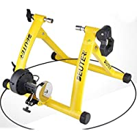 EMILIO Support de vélo magnétique Turbo Trainer avec Roue de réduction du Bruit Jaune