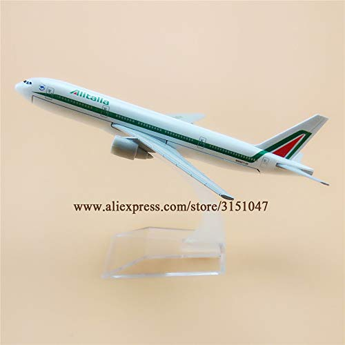 ZAMTAC 16cm Air Italian Alitalia B777 Boeing 777 Airlines Plane Model Alloy Metal Diecast Model Airplane Aircraft Airways Gift