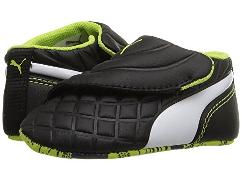 PUMA Kids' Drift Cat 5 Crib Sneaker Black White, 4 M US Toddler