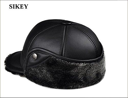 HL104 genuine leather men baseball cap hat CBD men's real leather adult solid adjustable hats caps (Black Color) (XL(58-59 (Infant Dallas Cowboys Halloween Costume)