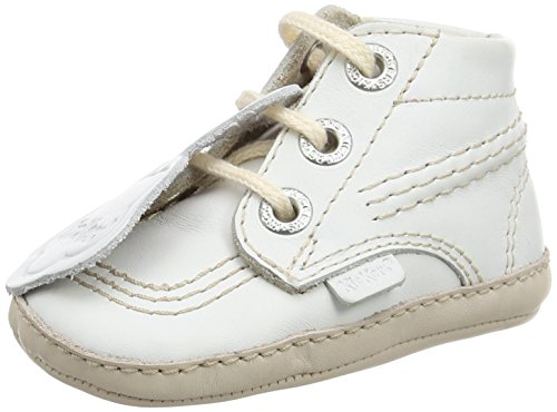 Kickers Unisex Babys Kick Bonnie B Krabbelschuhe Weiß
