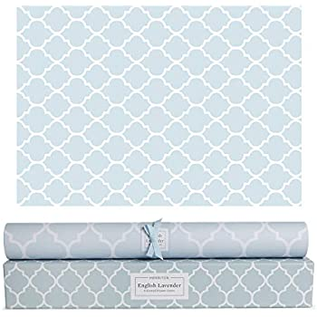 Merriton Scented Drawer Liners, Fresh Scent Paper Liners for Cabinet Drawers, Dresser Shelf, Linen Closet, Perfect for Kitchen, Bathroom, Vanity (6 Sheets) (English Lavender)