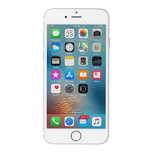 Apple iPhone 6 64GB Factory Unlocked GSM 4G LTE Smartphone, Silver (Renewed) ()