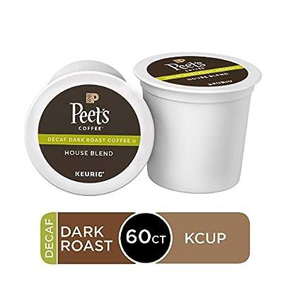 Peet's Coffee Decaf House Blend, Dark Roast, 96 Count Single Serve K-Cup Decaffeinated Coffee Pods