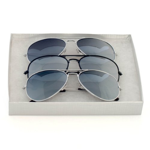 Classic Tear Drop Mirror Lens Aviator Sunglasses