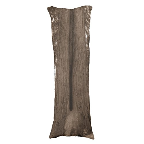 UOOPOO Wood Polyester Body Pillow Cover Square 20 x 54 Inches for Bed Print on Twin Sides
