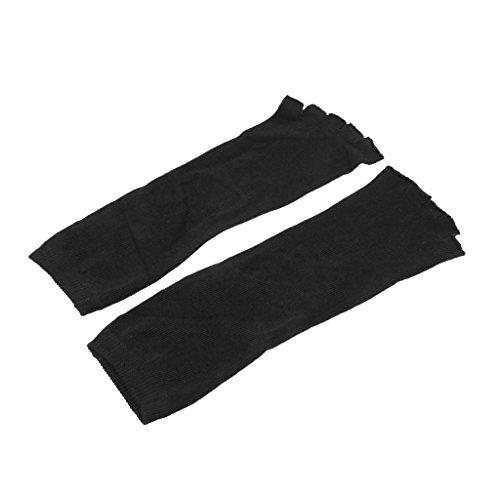 Mujeres Talón Pies De Yoga Negro Desnudos Fityle Del Cinco Los Las Calcetines Algodón Separan Dedos Deportes 4nYPx5q