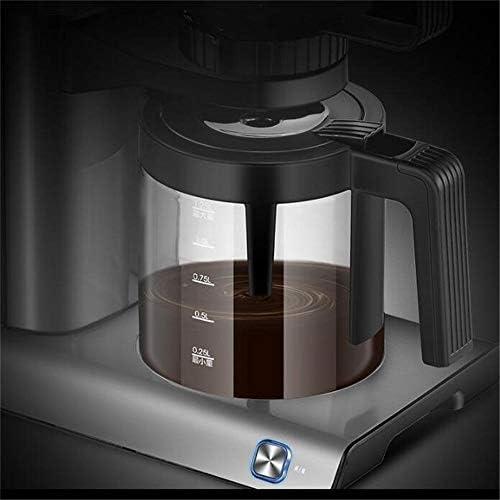 LULUVicky Moulin à Main Portable 1250ml électrique Machine à café américain gl Automatique Ménage Foam Cafetière Noir pour Voyage ou Camping (Color : Black, Size : One Size)