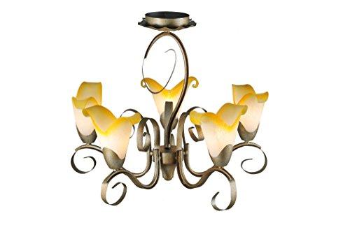 "Meyda Tiffany 106778 Honey Cup 5 Light Chandelier, 21"" Width"