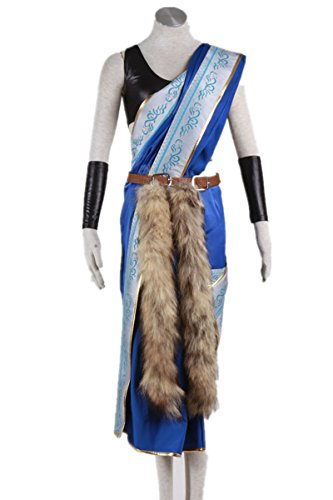SQUARE ENIX Final Fantasy XIII FF13 Cosplay Costume-Oerba Yun Fang 7Pcs Set (Fang Final Fantasy Costume)