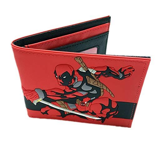 SWVV PU y PVC Monedero Americano Marvel Comic Deadpool ...