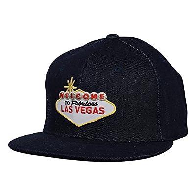 Las Vegas Sign Hat - Blue Denim Snapback, Made in USA
