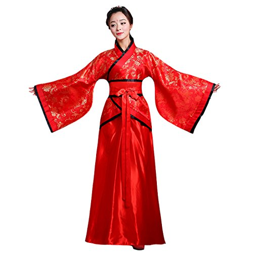 Ez-sofei Women's Ancient Chinese Han Dynasty Traditional Costume Set Hanfu Dresses (XL, -
