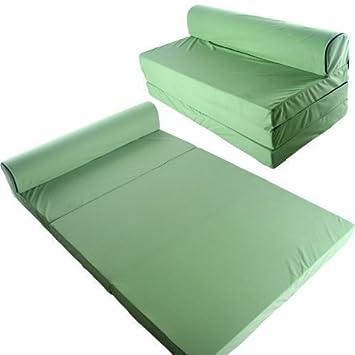 Schlafsessel 200x120cm Klappmatratze Gästebett Bettsessel Schlafsofa  Faltmatratze (apfelgrün)
