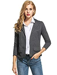 ANGVNS Womens Blazer Long Sleeve Casual Work Office Open Front Women Jackets