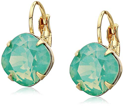 Sorrelli Pacific Opal Women's Cushion Cut French Wire Earrings, Blue-Green, -