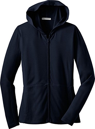Port Authority Ladies Modern Stretch Cotton Full-Zip Jacket, true navy, XXXX-...