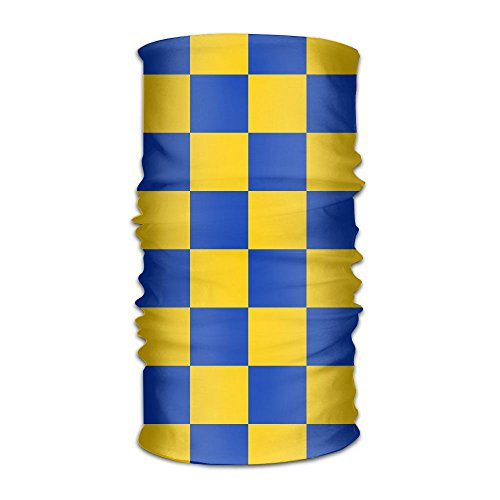 fan products of Build U UK Surrey Blue And Yellow Lattice Headwear Bandanas Multifunctional Headscarf