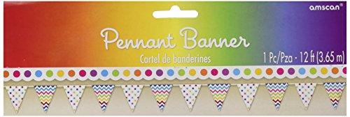 Rainbow Printed 12' Pennant - 12' Pennant Banner