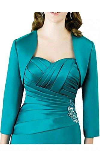 Royal mit Lang Glaenzende Stoff Herzausschnitt Blau Brautjungfernkleider La Linie Marie Bolero A Braut Abendkleider Rock qwPx0O