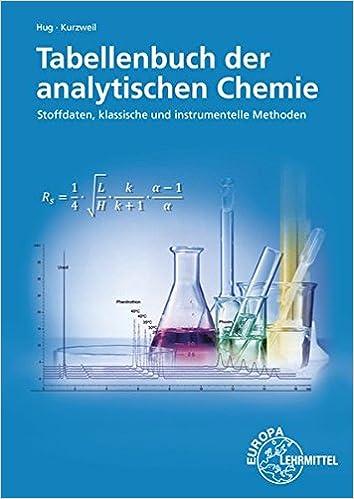 Tabellenbuch der analytischen Chemie: Stoffdaten, klassische und ...