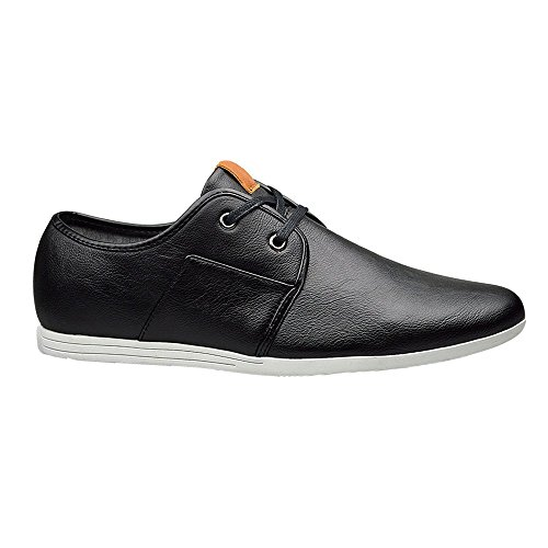 para negro Robelli piel Zapatos cordón hombre de con APwx4qd0