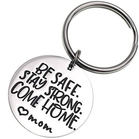 Llavero de implementación Be Safe Stay Strong Come Home Love Mom Abuela Hermana Esposa Marines Militar (llavero): Amazon.es: Ropa y accesorios