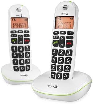 Doro PhoneEasy 100w duo - Teléfono fijo digital (inalámbrico), color blanco: Amazon.es: Electrónica