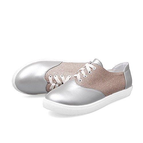 Couleurs Argent Légeres Mélangées Femme Chaussures Rond fibre Aalardom Super Lacet UwpXz