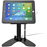 CTA Digital Dual Security Kiosk Stand with Locking Case & Cable for iPad/Air/iPad Pro 9.7, Black (PAD-ASKB)