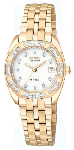 Citizen Women's EW1593-58A Eco Drive Stainless Steel Rose Gold Watch ()