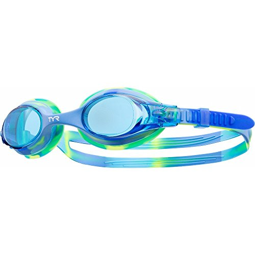 TYR Youth Tie Dye Swimple Goggles, Blue/Green -