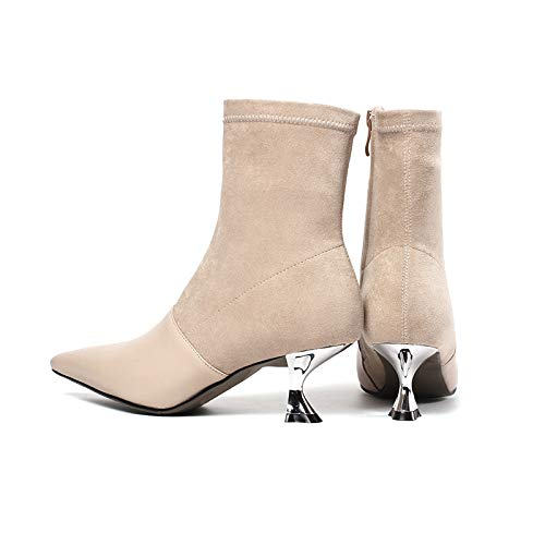 Apricot Warm Courtes Pointus pour Bottines Talons à Femme Stiletto 0qcv1
