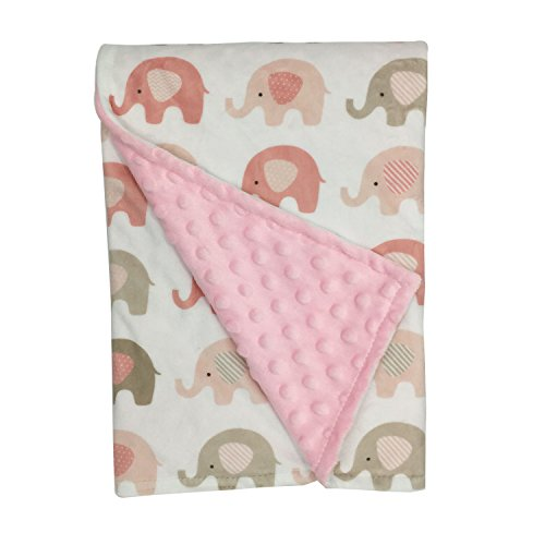 ht-double-layer-toddler-blanket-baby-blanket-30x40-inches-pink-elephant-minky-dotted-backing