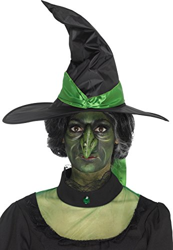 Smiffys 46795 Foam Latex Witch Nose Prosthetic, Green, One Size -