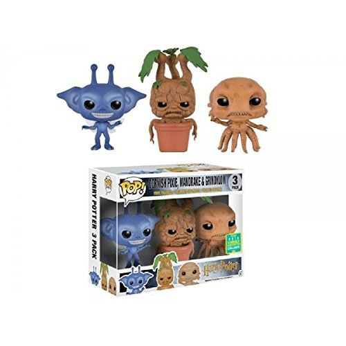 (Funko Pop Minis Harry Potter Cornish Pixie, Mandrake and Grindylow SDCC 2016 Exclusive 3 Pack )