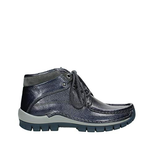 Metallic Bleu Lacets Cuir Winter Comfort 81800 À Cross Bottines Wolky OqzWwHTq