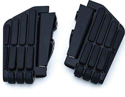 Kuryakyn 7061 Motorcycle Foot Control Component: Transformer Passenger Floorboards for 2001-17 Honda Gold Wing GL1800, F6B Motorcycles, Gloss Black, 1 Pair