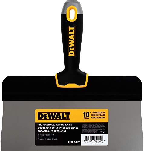 Soft Handle Knife - DEWALT 10-Inch Big Back Taping Knife   Stainless Steel w/Soft Grip Handle   DXTT-2-192
