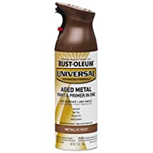 Rust-Oleum Universal Aged Metal Paint & Primer, 11-oz, Metallic Rust