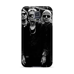 Shock Absorption Hard Cell-phone Case For Samsung Galaxy S5 With Allow Personal Design Beautiful Metallica Skin SherriFakhry
