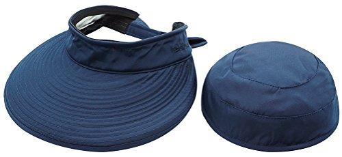 Golf Hats Visors And (Casual UV Protection Cap Sun Visor Lightweight 2in1 Visor Wide Brim Summer Golf Sun Hat, Navy)
