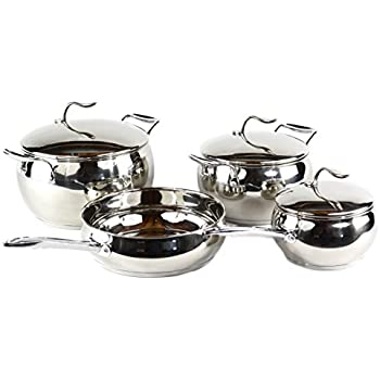 Amazon Com All Clad Master Chef 2 9 Piece Cookware Set