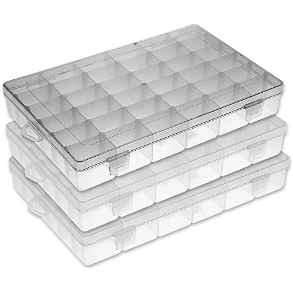 Plastic Organizer Dividers 36 Compartment Box Storage Bead Jewelry Tackle Screw