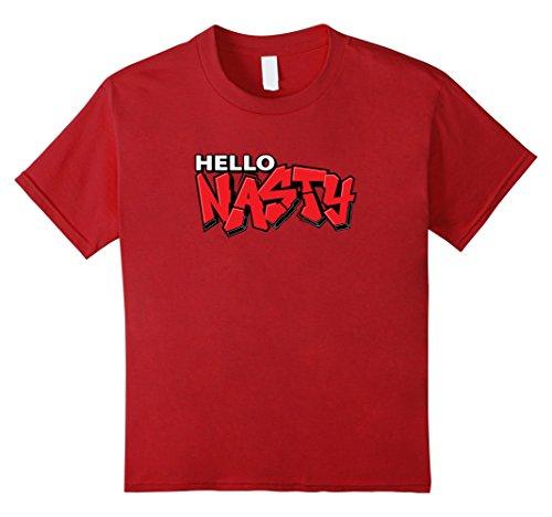Kids Hello Nasty Paintball T-Shirt : Graffiti 10 Cranberry (Nasty Graffiti)