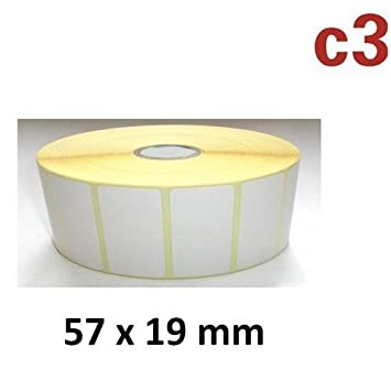 Thermotransfer Etiketten Rolle 57x19mm PET Polyester Folie silber Typenschilder