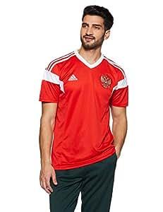 adidas Rusia Camiseta de Equipación, Hombre, Rojo/Blanco, S