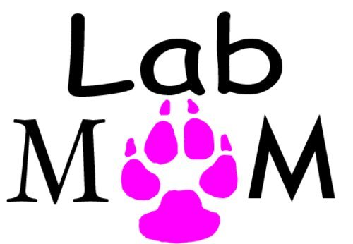 [Lab MOM - Pink Paw Vinyl Decal Sticker - Great for Truck Car Bumper or Tumbler - Perfect Labrador Dog Fur Baby Mother Pet Owner Gift, Made in the] (Shock Treatment Costumes)