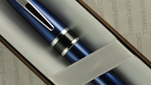 Cross Executive Companion Daltton Midnight Royal Blue with Cross Signature Black accent Mid Band and Polished Appointments Medium Ballpoint Pen